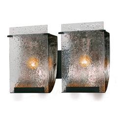 Varaluz - Varaluz 160B02 Rain Rainy Night 2 Light Bathroom Wall Sconce - Crafted Hand Forged Eco-Friendly Recycled Steel