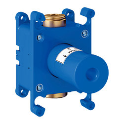 "Grohe - Grohe 35035 (For Grohe 27621) Rough-In Valve - This Rough-in (35035) Is Designed For Use With The (27621) Wall Shower Union, And Is Ideal For Grid Installations Of The Grohtherm Custom Shower Systems And The GrohFlexBuilt-In Box (With Removable Protection Cover). It Includes A Flushing Plug For Masonry And Drywall Installation Fixing Points For Both The Front And Back Wall Body Of Dr Brass, And It Has A 1/2"" Npt Connection Thread."