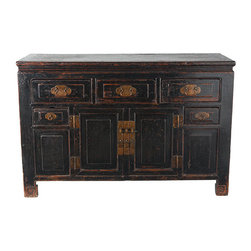 Long Chinese Dresser - This beautiful Chinese dresser will give your room an exotic touch.