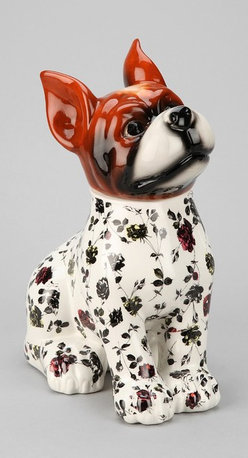 Plum & Bow Floral Dog Cookie Jar - How adorable is this floral doggie-shaped cookie jar from Plum & Bow? He will make guests think twice before snatching a snack.
