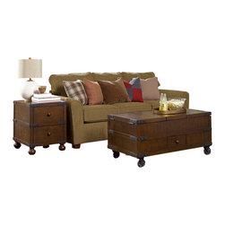 Hammary - Hammary Hidden Treasures 2-Piece Trunk Coffee Table Set - 2-piece trunk coffee table set belongs to Hidden Treasures collection by Hammary