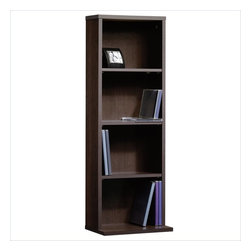 Sauder - Sauder Beginnings Multimedia Storage Tower in Cinnamon Cherry Finish - Sauder - Bookcases - 414112 -