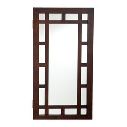 Akita Wall-Mount Jewelry Mirror, Espresso