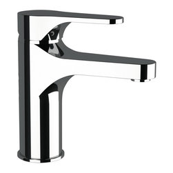 Remer - Deck Mount Chrome Bathroom Faucet - This basin mixer mounts easily to your deck or surface. It has a single-lever and does not include pop-up waste. It comes in a shiny chrome finished and is perfect for your contemporary style bathroom. Deck-mount basin mixer. Single-lever mixer. Does not include pop-up waste. Made in Italy by Remer.