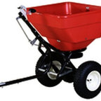 "EARTHWAY PRODUCTS - 2170T 100# Broadcast Tow Spreader - commercial Tow Broadcast Spreader High capacity -100 lb. rustproof hopper - spreader for tow behind garden tractor use. Provides even product distribution with - EV-N-SPRED(R) 3-hole drop system 13"" diam. stud type tires on poly rims. Adjustable length hitch for deeper receivers. Super-duty gearbox for long life 5-year limited warranty 2170T 100# Broadcast Tow Spreader. Color: Red"
