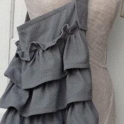 Hand Dyed Gray Canvas Bag by Camilla Cotton - Gina Blasingame at Camilla Cotton