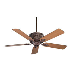 The Gossamer Ceiling Fan - Sophisticated and Regal in a variety of finish optionsWeight: 12. 12 lbsFinish: Bark & GoldBulbs Included: NoDownrod Width: 0. 50Blade Pitch: 14. 00Safety Rating: UL, CULVoltage: 120