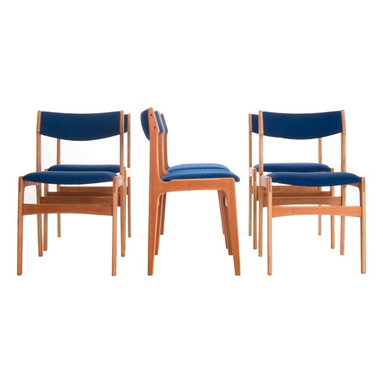Vintage Danish Modern Dining Chairs - Set of 6 dining chairs. Custom upholstery available.