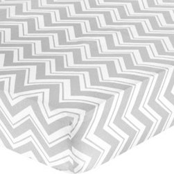 Sweet Jojo Designs - Zig Zag Yellow & Gray Zig Zag Print Crib and Toddler Sheet by Sweet Jojo Designs - The Zig Zag Yellow and Gray Zig Zag Print Crib and Toddler Sheet by Sweet Jojo Designs, along with the bedding accessories.
