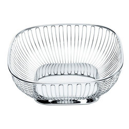 Alessi - Alessi Square Wire Basket - Take your rolls, bread or biscuits uptown! In fact, this would do beautifully as a fruit basket. Or a hand towel basket. Or for just about anything else in your life that needs a facelift. No surgical procedures required.