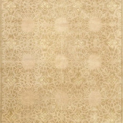 """Loloi Rugs - Loloi Rugs Yakima Collection - Gold, 7'-10"""" x 11'-0"""" - The Yakima Collection is a transitional hand-tufted line that utilizes strands of faux silk to highlight subtle patterns. This tasteful collection is made of wool and viscose."""