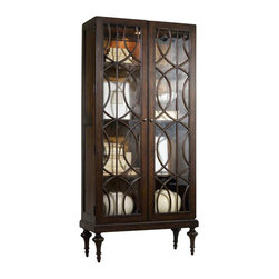 Hooker Furniture - Hooker Furniture Melange Adaira Display Cabinet in Walnut - Hooker Furniture - Curio Cabinets - 63850083 - Come closer to M��lange and you will discover something unexpected an eclectic blending of colors textures and materials in a vibrant collection of one-of-a-kind artistic pieces.