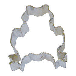RM - Frog 3 In. B1233X - Frog cookie cutter, made of sturdy tin, Size 3 in., Depth 7/8 in., Color silver