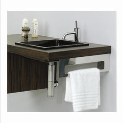Whitehaus - Whitehaus Whkeepsopd Aeri Right Towel Bar - Aeri right side towel bar with mirror finish
