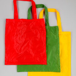 Design Imports - Bugs & Frog Grocery Bag Set - Strut down the aisle in style with this grocery bag set. Constructed from durable materials and featuring a funky, foldable design, it's a terrific trio of totes that's perfect for storing everything from the farmers market treats to impromptu picnic items.   Includes three bags 16'' W x 17'' H 100% nylon Machine wash; tumble dry Imported