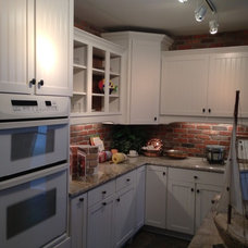 Aristokraft cabinetry --Ellsworth collection.  Like the full overlay door with t