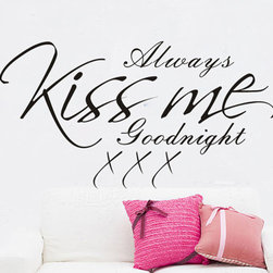 ColorfulHall Co., LTD - Wall Decal Diy Large Always Kiss Me Goodnight - Wall Decal DIY Large Always Kiss Me Goodnight