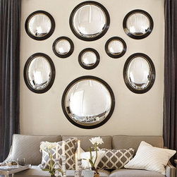 Alastair Convex Mirror - Replacing one of your framed photos with a large convex mirror is a cool way to see your entire room (including your gallery) from a new perspective.