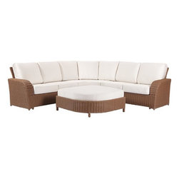 Trinidad Sectional Set - You can't beat the comfort of a great sectional. I love the texture of the base of this one paired with the crisp white fabric.