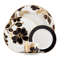 Lenox - Lenox Minstrel Gold 5-Piece Place Setting - Lenox Minstrel Gold 5-Piece Place Setting