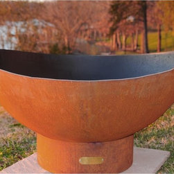 Tidal Fire Steel Outdoor Fire Pit - Tidal Fire steel outdoor fire pit.