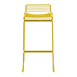 Stackable Hee Bar Stool - Modern, fun, and comfortable, this stool will up the style factor of your kitchen island, bar, or pub table.
