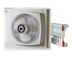 "Lasko Products - Reversible Window Fan 16"" - The 16"" Electrically Reversible Window Fan powerfully circulates air through two to three rooms. Plus, its exclusive Storm Guard feature allows you to close the window behind fan for safety and security during inclement weather or while you're away. Three, Whisper-Quiet Speeds. Powerful, 16"", Three-Paddle Blades. Electrically Reversible Motor with a Simple Turn of the Dial. Fits Windows 26"" to 34"" Wide and 22"" High and Larger. U.L. Listed."