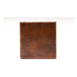 "Premier Copper Products - Premier Copper Products T4DBH 4"" x 4"" Copper Hammered Tile - 4"" x 4"" Copper Hammered Tile"
