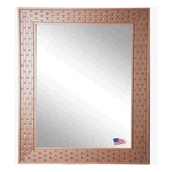 Rayne Mirrors - USA Made Wheat Crate Wall Mirror - Complete any room with this beautifully-textured decorative framed mirror. Its unique brick design provides an eye-catching accent versatile enough to work with a wide range of decorative themes. Vertical and horizontal hanging hardware included.  Rayne's American Made standard of quality includes; metal reinforced frame corner  support, both vertical and horizontal hanging hardware installed and a manufacturers warranty.