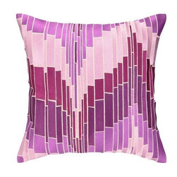 Trina Turk - Trina Turk Loomis Pillow-Purple - The Purple Loomis Pillow by Trina Turk is part of a line infused with bold signature prints and unique dynamic hues, Trina's modern and optimistic outlook meld the best of classic American design with a California confidence, incorporating beautiful fabrications and impeccable quality for the effortless elan and carefree glamour.