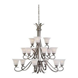 Sea Gull Lighting - Nickel Up Chandelier - This Up Chandelier has a Nickel Finish and is part of the Rialto Collection.