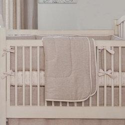 Light Pink Linen Crib Comforter -