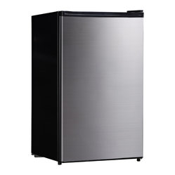 Compact Refrigerator with Energy Star, 4.4 Cu. Ft., Stainless Steel