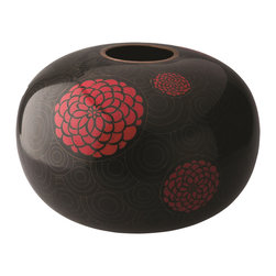 "Piling Palang - Handmade Drum Vase by Piling Palang - There was a ""Flower Drum Song,"" now there's a ""Flower Drum Vase."" This gorgeous, handmade cloisonné piece allows you to interject a touch of the imperial into your indoor space. Admirers will be singing its praises wherever you plant it."