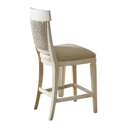 American Drew - American Drew Americana Home Counter Height Chair in Weathered White - Americana Home is a casual lifestyle grouping with an eclectic mix of design elements, finishes, and materials. Crafted with Pin knotty oak veneers with hardwood solids. Americana Home creates an inviting and comfortable setting for any lifestyle and personality. The best elements of casual country, modern lodge, coastal cottage and urban loft living combine to bring a unique sense of timeless and comfortable places from all over the American landscape. Americana Home creates an inviting and comfortable setting for any lifestyle and personality. Design the perfect timeless escape in your own home.