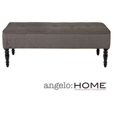 Originals And Limited Editions angelo:HOME Brighton Hill Parisian Smoky Gray Velvet Large Bench