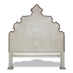 Patricia Bed, Antiqued Cream Headboard - Patricia Bed, Antiqued Cream Headboard