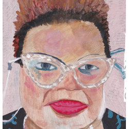 """Lesile With The Shinny Glasses"" (Original) By Tony Ziegler - I Ran Into This Beautiful Sister In Brooklyn And Had To Make A Painting Of Her And It Is A Start Of A New Series"