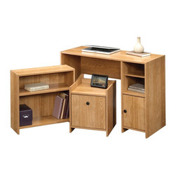 Sauder - Sauder Beginnings Office In A Box 3 Piece Set in Highland Oak - Sauder - Office Sets - 413094 -