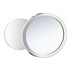 Smedbo - Smedbo Shaving Make Up Mirror Self Adhesive/Magnet, Chrome - Smedbo Shaving Make Up Mirror Self Adhesive/Magnet, Chrome