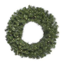 Vickerman Douglas Fir Pre-Lit LED Wreath - Warm White Lights - Celebrate the season with the Vickerman Douglas fir Pre-Lit LED Wreath - Warm White Lights. This lovely holiday wreath has a classic, elegant design. The imitation douglas fir branches are adorned with warm white LED lights that add just the right amount of sparkle. The wreath can easily be hung anywhere you need a touch of festivity. The durable PVC construction outlasts dried wreaths without the mess and hassle. Hang in your home, office or any space for instant holiday cheer.About VickermanThis product is proudly made by Vickerman, a leader in high quality holiday decor. Founded in 1940, the Vickerman Company has established itself as an innovative company dedicated to exceeding the expectations of their customers. With a wide variety of remarkably realistic looking foliage, greenery and beautiful trees, Vickerman is a name you can trust for helping you create beloved holiday memories year after year.