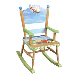 Teamson Design - Teamson Kids Transportation Hand Painted Rocking Chair - Teamson Design - Kids Rocking Chairs - W9943A.