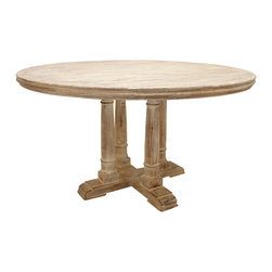 Made to Order Victoria Reclaimed Wood Round Dining Table -