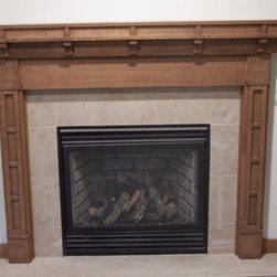 Quarter-sawn Red Oak Fireplace Surround- Parade Home - Quarter-sawn Red Oak, Craftsman Style- Parade Home- Wausau Wisconsin