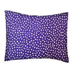SheetWorld - SheetWorld Twin Pillow Case-Percale Pillow Case - Purple Fun Dots-Made in USA - Pillow case is made of a durable all cotton percale material. Fits a standard twin size pillow. Features a Purple Fun Dots print.