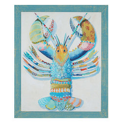 Paragon - Rock Lobster - Framed Art - Each product is custom made upon order so there might be small variations from the picture displayed. No two pieces are exactly alike.