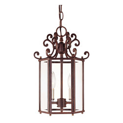 Savoy House - Savoy House KP-3-500-2-40 Liberty Foyer - Climb into your horse drawn carriage and go back in time with the Liberty collection. A dignified Colonial design with a rustic Walnut Patina finish almost makes this collection an American treasure.