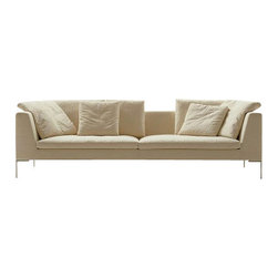 ecofirstart - Santa Barbara Sofa - Ecofriendly furniture can be fashionable.  Everything about this innovative, contemporary sofa is natural and organic — from the fabric down to the glue. So go ahead, enjoy a sofa that's stylish, comfortable and good for the Earth.