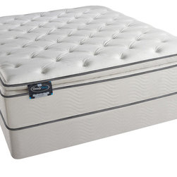 Simmons Beautyrest - Simmons BeautySleep Titus Pillow Top Queen-size Mattress Set - You'll sleep comfortably each night on this queen-size mattress set. The pillow-top mattress conforms to your body to reduce motion transfer and provides back support. It contains gel-touch foam to help regulate your body's temperature as you rest.