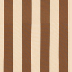 """Ballard Designs - Canopy Stripe Brown/Sand Sunbrella Fabric by the Yard - Content: 100% Sunbrella® acrylic. Repeat: Non-railroaded fabric. Care: Spot wash with mild soap solution. Width: 54"""" wide. Bold brown & sand canopy stripes woven in washable canvas-like, Sunbrella acrylic. Content: 100% Sunbrella acrylic . .  .  . Because fabrics are available in whole-yard increments only, please round your yardage up to the next whole number if your project calls for fractions of a yard. To order fabric for Ballard Customer's-Own-Material (COM) items, please refer to the order instructions provided for each product.Ballard offers free fabric swatches: $5.95 Shipping and Processing, ten swatch maximum. Sorry, cut fabric is non-returnable."""